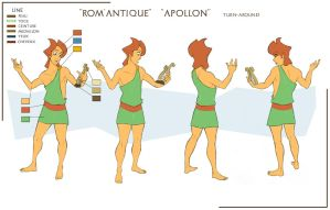 Apollon model-sheet by Sedjin