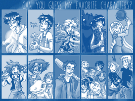 Can You Guess My Favorite Characters by Digigirl-8th-kari