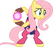Rhythm is Magic Hadouken Fluttershy by Chalcedonian