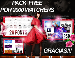 +PACK FREE POR +2000 WATCHERS by LupishaGreyDesigns