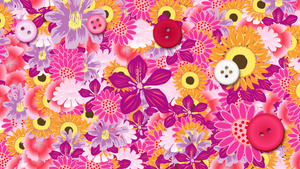 Flowers and Buttons wallpaper by dysphoriah