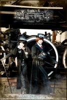 Death Note Steampunk: L vs L by Maru-Light