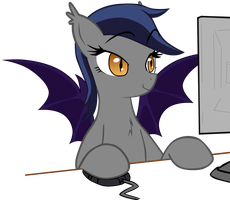 Echo the Bat Pony 17 by Zee66