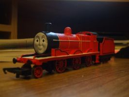 Hornby Red Engine by GBHtrain