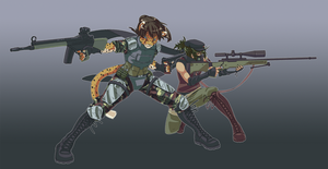 Some Chicks with Guns by ToastSamurai