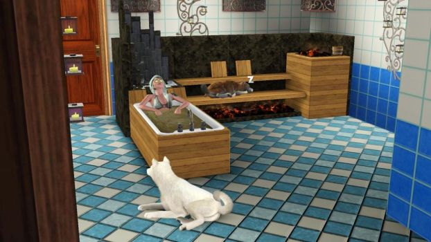 Relaxing- Sims 3 pets by piratekit