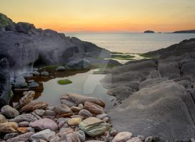 Rock-pools and Sunsets by cprmay