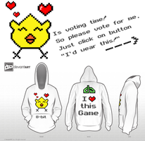 Little Chicken-8-bit -DeviantWEAR Challenge by xXSunny-BlueXx
