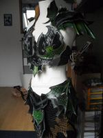 Druchii female leather armor by Deakath