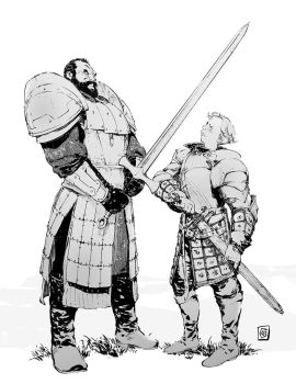 Mountain VS Brienne by Smolb