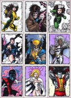 X-Men Sketch Cards B by tonyperna