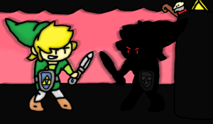 The dark link battle by thegamingdrawer