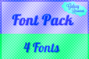 Font Pack 1 by xExoticQueen