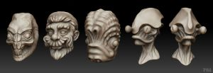 Zbrush Doodles by robotbreath