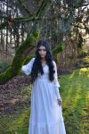 Stock - Goth In White Dress by Mahafsoun