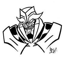 TF Prime: Megatron B+W by Berty-J-A