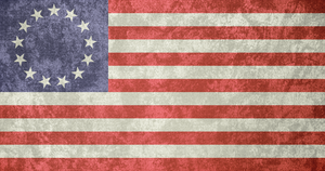 USA ~ 'Betsy Ross' Grunge Flag (1777 - 1795) by Undevicesimus