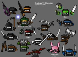 Poninjas VII Character Sheet by SergeantBiscuits