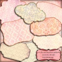 Scrapbook frame Damask Frames scrapbook embelish by miabumbag
