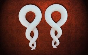Spiral Helix Twist Earrings by minionized