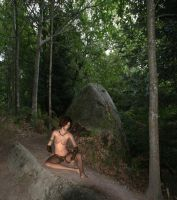 Jungle Girl In Forest by beedoll