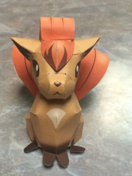 Paper-craft Vulpix by kingster333