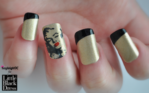 Marilyn Monroe Nail Art by KayleighOC