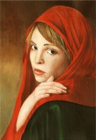Red veil by Sydia
