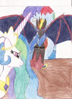 Infernal visits Equestria by Wyren367