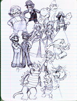 The Mario cast in... My Notes by taruruiryuu