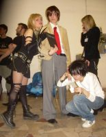 DNcosplay-2suspects,1detective by Shu-Maat