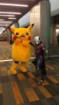 Pikachu with Star Wars Cosplayer by reivax