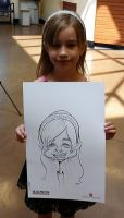 Live Caricature 1 - American Greeting Card Event by DoodleArtStudios