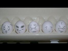 Paint it White Eggs by andrielisilien