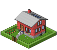 Isometric house, first try by YankoPopov