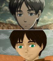 Eren Screencap Re-draw by SuperDorkyChick