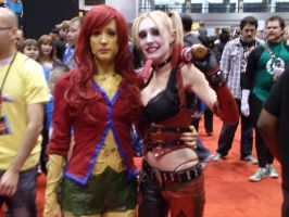 Arkham City Ivy and Harley @ C2E2 2012 by MonkeySquadOne