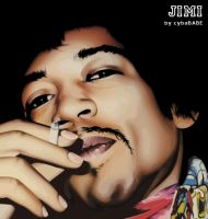JIMI HENDRIX by cybaBABE