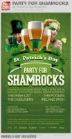 Party For Shamrocks St. Patrick's Flyer Template by loswl