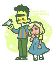 Bert, Prairie and Bernice by Cindysuke
