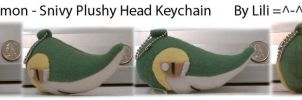 Snivy Head Plush Keychain by LiliNeko