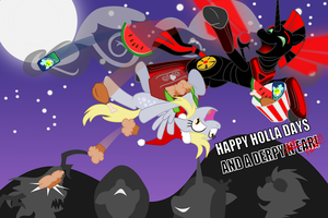 Happy Holla Days and a Derpy New Year! by N1ggerTron