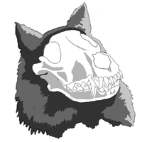 Wolf skull cell shading by angelarcanine