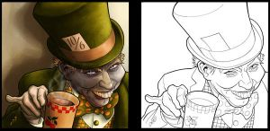 Mad Hatter_colored by CleverBlue