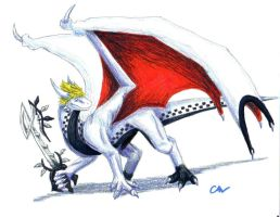 Dragon Roxas by Leithster