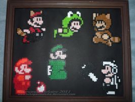 Beads - Mario Suits by ImmortalTanuki
