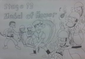 The simpsons game stage 13 by komi114