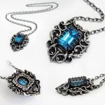 Topaz Shield Pendant by Gweyeni