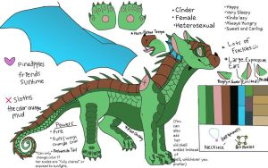 Cinder ref. sheet by CindertheRainMudwing
