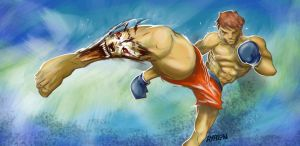 Kick boxing Power by Andres-Iles